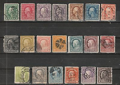 USA Scott #  498 - 518 Perf 11 set of 20 stamps (498-518-1)