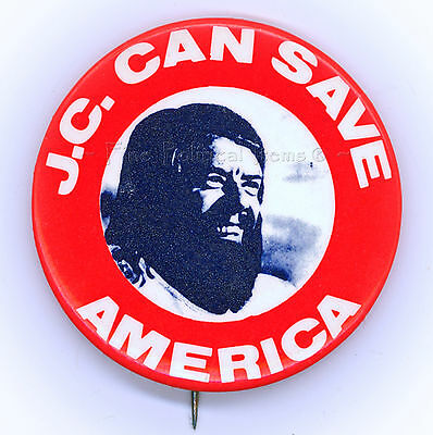 "*  Rare  ~  "" J.C.  CAN  SAVE  AMERICA ""  ~  1976 Campaign Button"