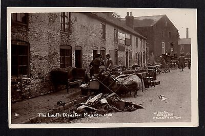 Louth Disaster 1920 - real photographic postcard