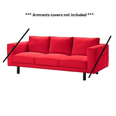 IKEA NORSBORG - Slipcover for 3-Seat Sofa Section Finnsta Red (cover only)