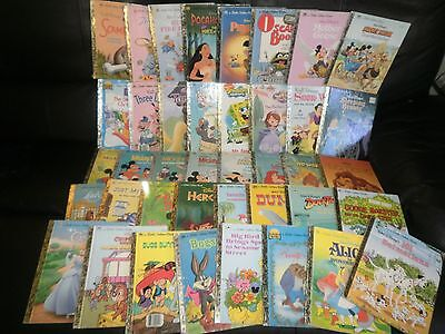 Huge Lot 40 Little Golden Books Mickey Mouse Winnie Pooh Disney Bugs Bunny Scarr