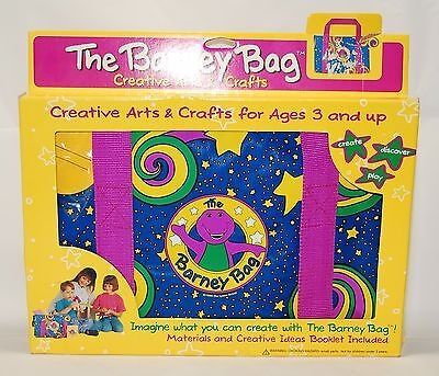 The Barney Bag w/ Arts & Craft Kit 1994 The Lyons Group Vintage RARE New In Box