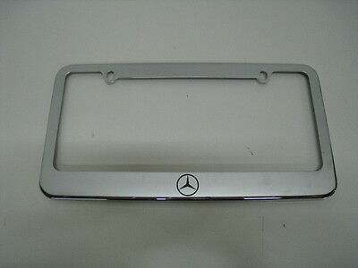 - MERCEDES-BENZ LOGO -stainless steel license plate frame + FREE 2 CAPS