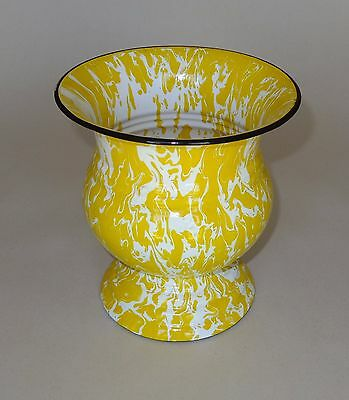 Yellow & White Large Swirl Graniteware Wine Cooler