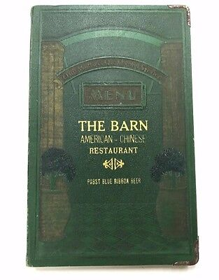 Vintage The Barn Restaurant Menu Binghamton NY 1950's 1960's American - Chinese