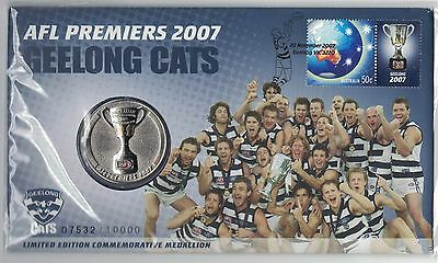 2007 Australia PNC AFL Premiers Geelong Cats with Medal - Football