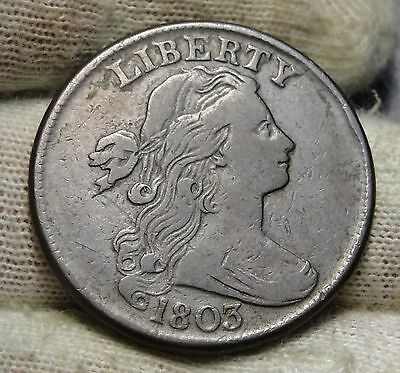 1803 Penny Draped Bust Cent 1 C - Very Nice Coin, Free Shipping  (5656)