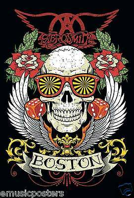 "AEROSMITH ""BOSTON"" POSTER FROM ASIA - Skull With Psychedelic Glasses On"