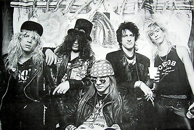 "GUNS N' ROSES ""BAND BEHIND AXL ROSE"" POSTER FROM ASIA - Hard Rock, Heavy Metal"
