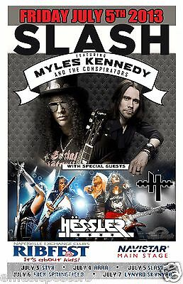SLASH / MYLES KENNEDY / HESSLER 2013 CHICAGO CONCERT TOUR POSTER - Guns N' Roses