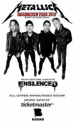 "METALLICA / ENSILENCED ""HARDWIRED TOUR 2017 NORTH AMERICA"" CONCERT POSTER- Metal"