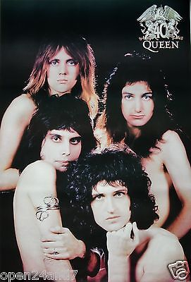 """QUEEN """"40th ANNIVERSARY - GROUP POSING NUDE"""" POSTER FROM ASIA -U.K. Rock Legends"""