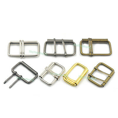 38mm 50mm Double 2 Prongs Roller Buckles Belt Bags Strap Webbing Cotton Leather