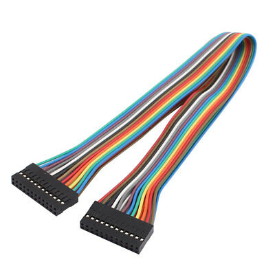 2x12P Jumper Wires Double Row Head Ribbon Cables Pi Pic Breadboard 31cm Long