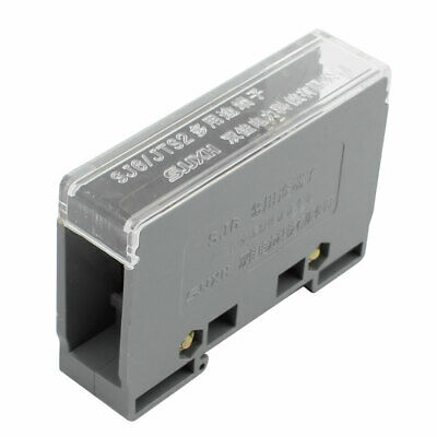 1 Input 4 Output 2 Positions 2 Rows 690V Wire Terminal Block Gray
