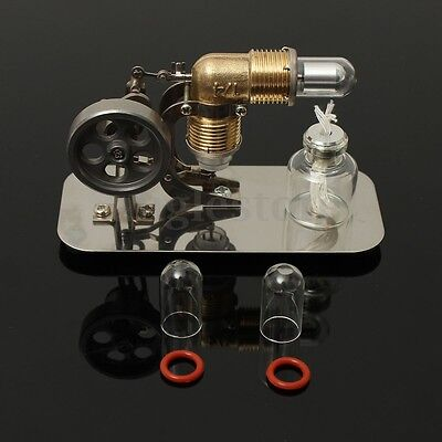 Mini Hot Air Stirling Engine  Power Generator Motor Model Educational Toy Gift