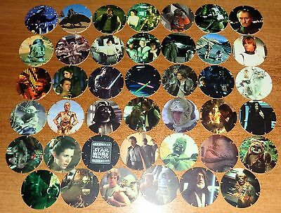POGS - V-SW-TAZ 41 001  Lot de 41 Pogs Tazos STAR WARS (1996) Neuf No double