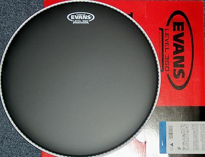 "14"" Evans BLACK COATED Hydraulic SNARE Batter Drum Head"