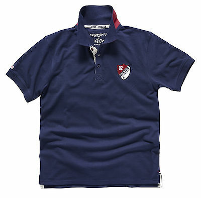 Genuine Triumph Motorcycles Macgregor Steve Mcqueen Polo T-Shirt In Navy Blue