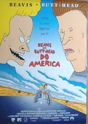 Beavis and Butt-Head Do America (1996) Original D/S Movie One-Sheet Poster