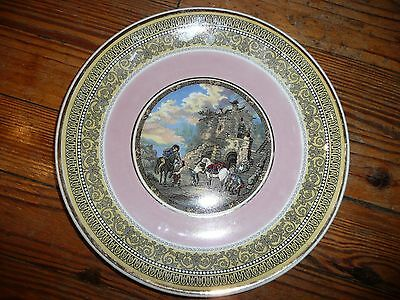"VTG Porcelain 9"" HALLFIELD COLLECTION JK Weatherby FARRIERS PLATE England 1930s?"