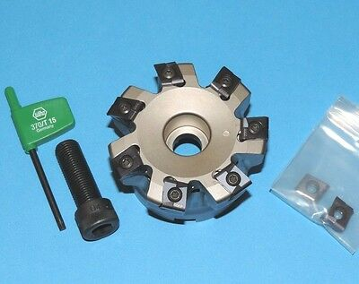 "NEW Ingersoll 3"" Indexable 80° Lead High Feed Face Mill w/ Inserts (SP6H-03R02)"