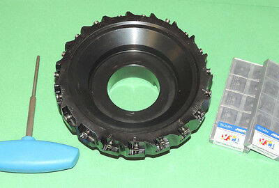 """NEW ISCAR TANGMILL 6"""" Indexable Face Mill w/ Inserts (F90LN D6.00-19-2.00-R-N15)"""