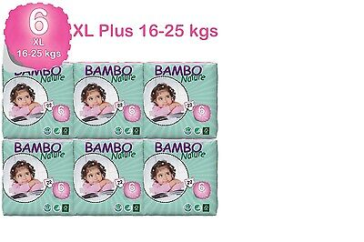 Bambo Nature Xl Nappies 16-30 Kgs 6 Packs In A Box 132 Eco Biodegradable