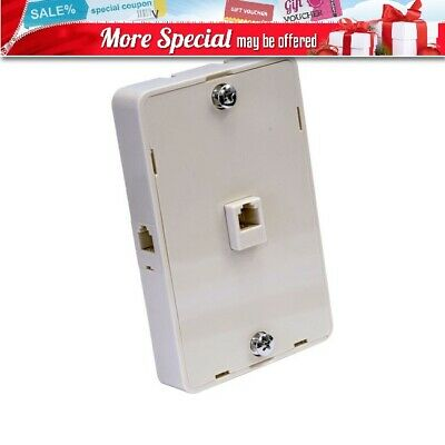 Ozstock Tel5049 2 Outlet Modular Telephone Wall Plate (1Xfront & 1Xside)