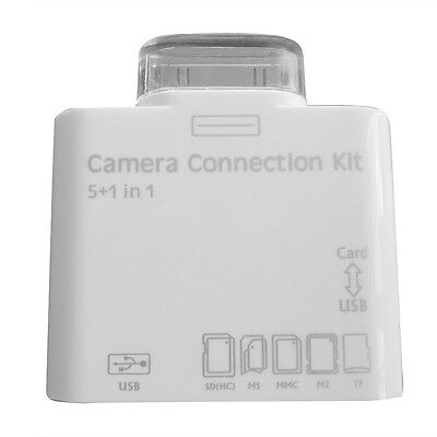 1X 5 in 1 USB to SD TF Card Reader Camera Connection Kit Adapter for iPad 2 3