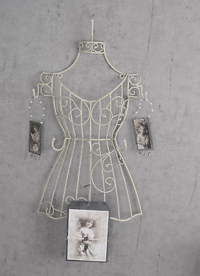 wall wardrobe tailor bust bust metal hook bust Shabby Chic White wall hooks