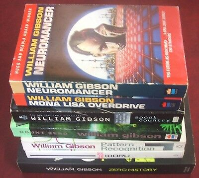 William Gibson Bulk Set x7 Paperback Books Neuromancer Spook Country Idoru +++