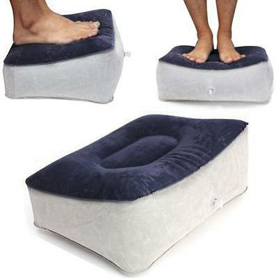 Inflatable Travel Foot Rest Footrest Pillow - Helps Reduce DVT Risk on Flights Z