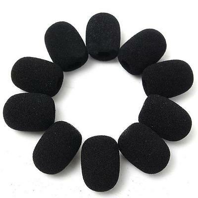 10PCS Microphone Headset Grill Windscreen Sponge Foam Pad Black Mic Cover Hot#BO