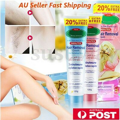 3X Unisex Herbal Permanent Hair Removal Cream Stop Hair Growth Inhibitor Remover