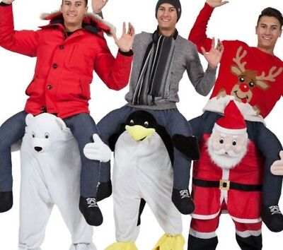 Christmas Mascot Carry Me Xmas Fancy Dress Costume Deluxe Mascot