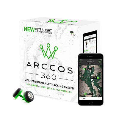 Arccos 360 Golf Performance Ultralight GPS 2.0 Sensor System (14 Sensors)- Black
