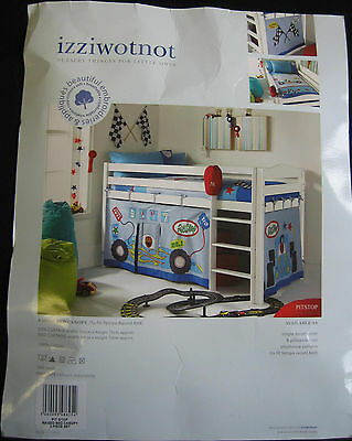 "Izziwotnot Raised Bed Canopy - ""Pit Stop"" - Used - Theme - Cars - Play time"