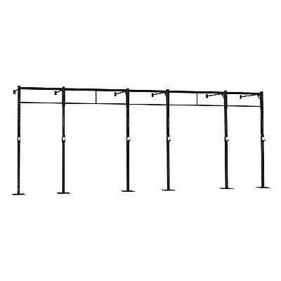 Power Squat Rack X 3 Wall Mounted 7 X Pull Up Station 270 Cm