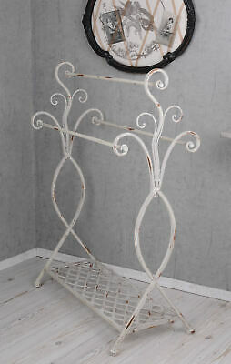 Towel Rack Towel Holder Shabby Chic Metal Towel Stand White