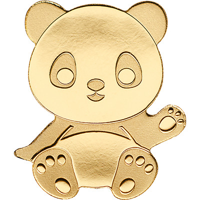 1$ Palau - Special Shapes Gold - Little Panda