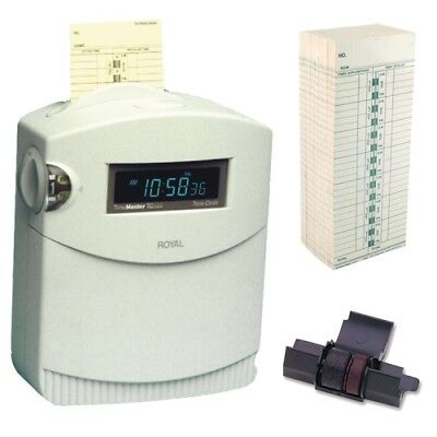 Royal TC100 Factory Reconditioned Topload Electronic Time Clock+ Accessory Kit