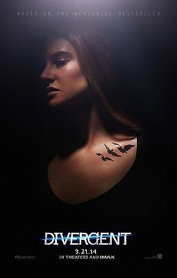 """DIVERGENT """"A"""" 11.5x17 PROMO MOVIE POSTER"""
