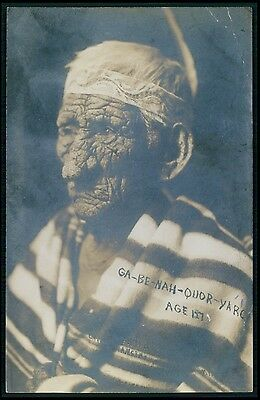 Ethnic North America Native American oldest 137 years c1910s Real Photo postcard