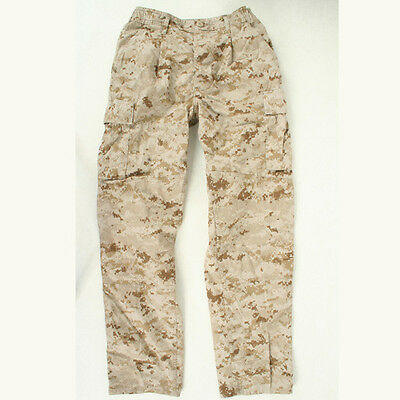 USED USMC Desert Marpat utilities FROG Medium Regular Trousers pants used MR reg