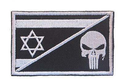 Israel Flag Skull Flag Army 3D Morale Badge Tactical Embroidered Hook Loop Patch