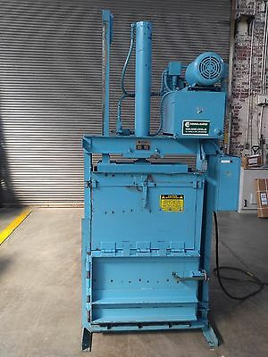 """CONSOLIDATED 30""""X16""""X 24"""" VERTICAL CARDBOARD COMPACTER BALER Model STDS-1 5HP"""