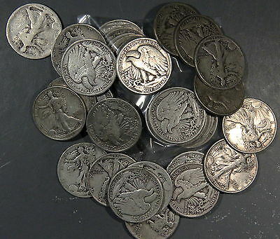 $3 Face Value Walking Liberty Half Dollars 90% Silver (Lot Of 6 Coins)