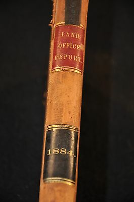 "Report General Land Office Book 1884 w/ McFarland USA MAP 40"" long; great piece"