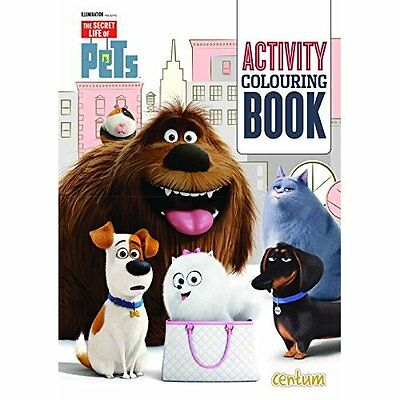 The Secret Life of Pets Activity Colouring Book - Paperback NEW Centum Books (A